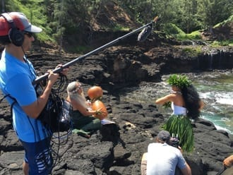 Filming Malama-Protect the Oceans