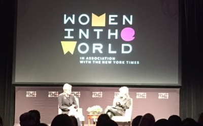 February 2016: Amber Live at Tina Brown's Women in the World